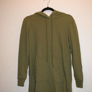 Forever 21 Casual Olive Green Sweatshirt Dress